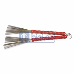 Ludwig L190 Red Ribbed Handle Brushes