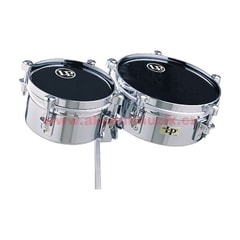 "Latin Percussion Mini Timbales & Mounting Bracket 6"" & 8"" Shells"