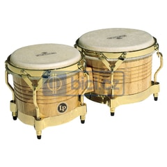Latin Percussion Matador Wood Bongos, Natural – Gold
