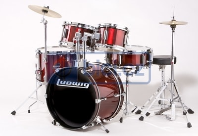 Ludwig LJR1064 Junior Wine Red