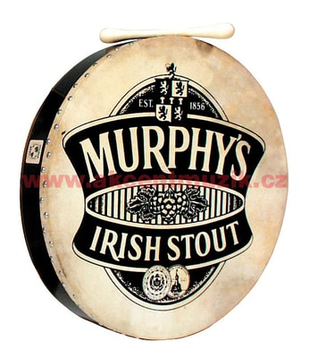 World Beat Printed Head Bodhran, 18""
