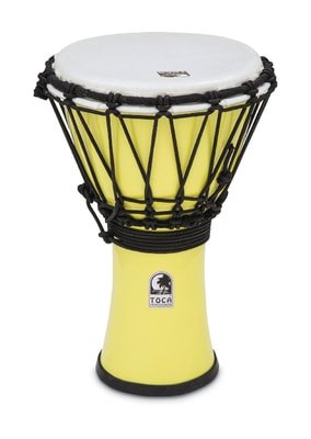 Toca Percussion TFCDJ-7PY ColorSound Djembe, 7""