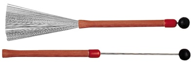 Ludwig L194 Red Grooved Handle Brushes