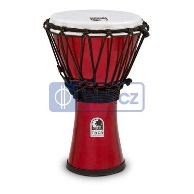 Toca Percussion TFCDJ-7MR ColorSound Djembe, 7""