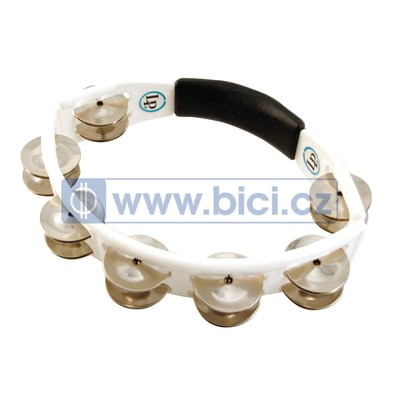 Latin Percussion Cyclops Hand Held Tambourine, White